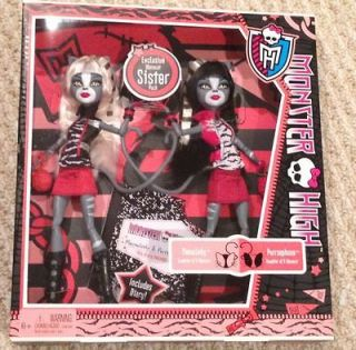 NEW Monster High Werecat Sister Doll Pack Meowlody and Purrsephone