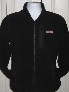 Mens Vineyard Vines Mooring Jacket FLEECE Full Zip BLACK XXL 2XL
