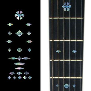 Vintage Snowflakes (AB) Fret Markers Inlay Sticker Decal Guitar