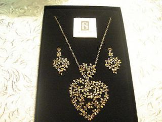Nicky Butler FASHION JEWELRY COLLECTION BRANCH HEART Necklace W/ Match