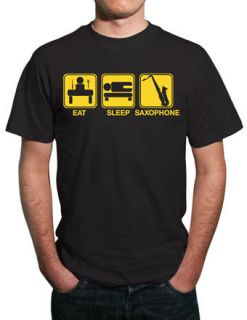 eat sleep saxophone funny sax t shirt all sizes more options clothing