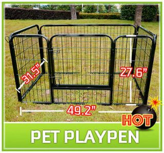 Duty Pet Dog Cat Exercise Pen Playpen Fence Yard Kennel Portable 27.6
