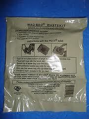 ) PETT WAG BAGS go anywhere portable toilet cleanwaste kits camp hunt