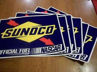 SUNOCO RACING DECALS OFFICIAL FUEL OF NASCAR