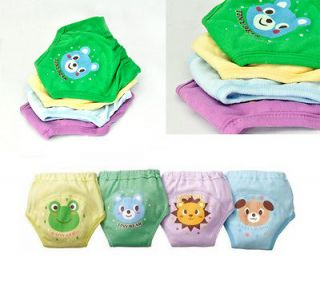 Girls Cute 4 Layers Waterproof Potty Training Pants reusable 4PCS