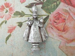 Catholic Pocket Statue INFANT JESUS OF PRAGUE Miniature 1 3/4 metal