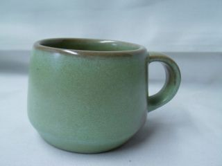 VINTAGE FRANKOMA POTTERY 6C COFFEE CUP BEVERAGE CUP PRARIE GREEN