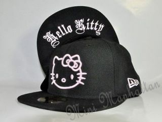 hello kitty old english pink new era 59fifty fitted cap hat