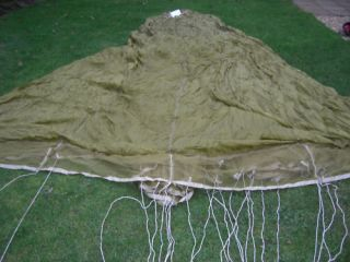 british army airborne parachute canopy px1 with lines not often