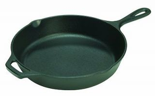 Logic 12 Seasoned Cast Iron Skillet Fry Pan camping kitchen double b