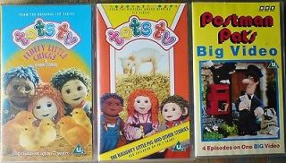 Job lot of 3 VHS PAL Videos   2 Tots TV Stories and Postman Pats Big