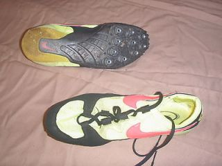 Nike Mens Size 7.5 Used Track & Field Running Shoes Neon Yellow & Pink
