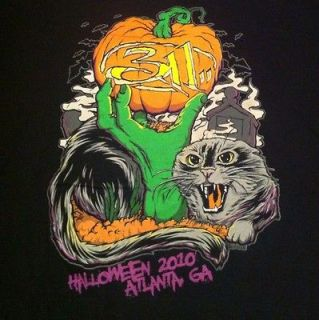 Rare 311 Halloween Show Tour T Shirt Sublime Slogan Art L Slightly