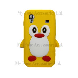 For Samsung Galaxy Ace S5830 Cute Penguin Soft Silicone Case Back Skin