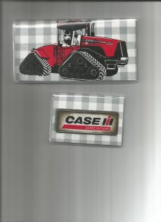 CASE INTERNATIONAL TRACTOR PRINT FABRIC 2 PC CHECKBOOK COVER SET