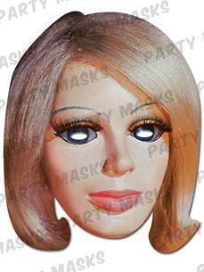 Thunderbirds Fancy Dress Mask Lady Penelope by Mask arade Thunderbird