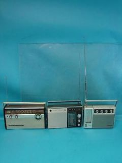 Lot of 3 Vintage Panasonic Transistor Portable Radio Model RF 757