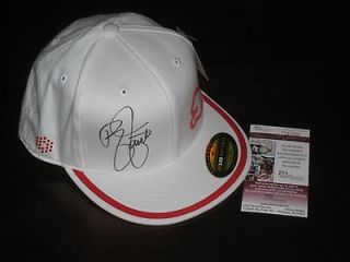 signed White & Orange Puma Monoline PGA Tour Fitted Golf Hat JSA
