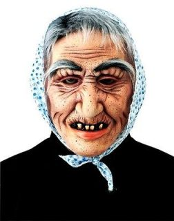old lady hag latex mask halloween costume accessory senior citizen
