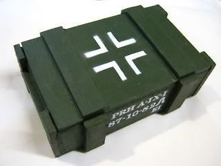 ammo box wood wooden tray ammunition army navy cross s