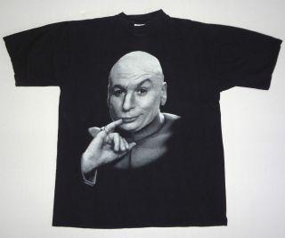 austin powers dr evil t shirt black l 90s movie retro vtg