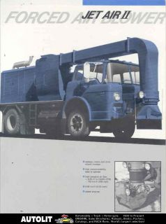 1987 ford laurentide snow blower truck brochure canada time left