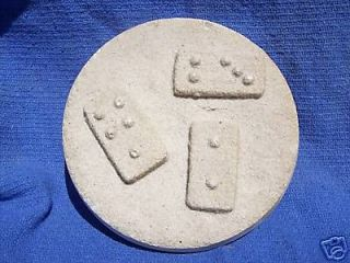 sand and plaster dominoes wall art