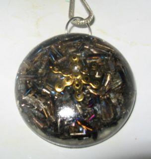 Metatrons Cube Tachyon   Orgone pendant  Crystal Clear