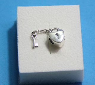 Authentic Pandora Sterling Silver Key to My Heart Bead/Charm   #790971