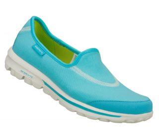 SKECHERS SHOES 13510 GO WALK GOWALK WOMENS BLUE AQUA SPORT SLIP ON