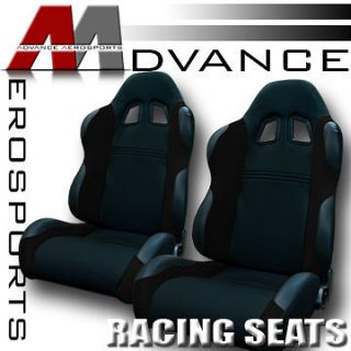 & PVC Leather Sport Racing Bucket Seats+Sliders 25 (Fits Fiero