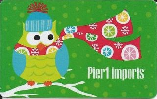 OWL MINT GIFT CARD FROM PIER 1 IMPORTS CANADA BILINGUAL NO VALUE