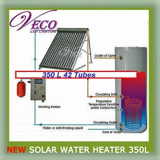 Separated Pressurized 350L 42Tubes Solar Water Heater WATER HEATING