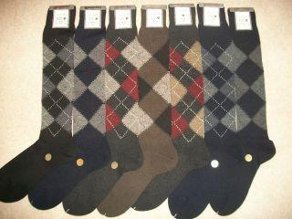 Mens Classic Argyle Wool Rich Long Half Hose Golf Socks Size 6 11 Uk