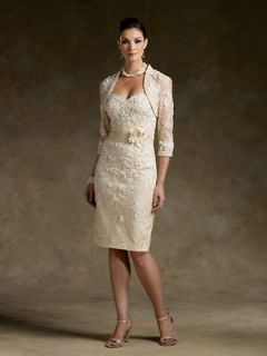 Short Champagne Wedding Mother of the Bride Dress Stock size 8 10 12