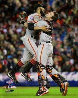 Buster Posey & Sergio Romo SF Giants 2012 World Series Celebration