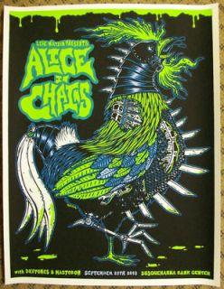 alice in chains deftones 2010 silkscreen gig poster s n returns