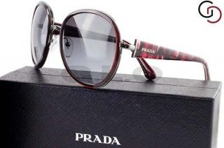 NEW AUTHENTIC PRADA SPR 51N 5AV 3M1 BURDEAUX 51NS SUNGLASSES ELEGANT