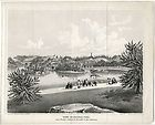 VIEW IN CENTRAL PARK, NEW YORK & ORIGINAL circa 1861 LITHOGRAPH