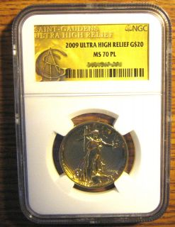 2009 $20 NGC MS 70 PL ULTRA HIGH RELIEF PROOF LIKE Gold Double Eagle