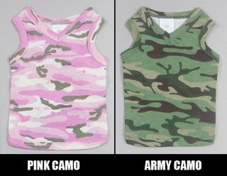 Wholesale Pet clothing for summer Army Camo Style Dog T shirt Tank Top