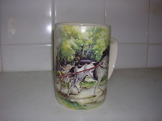 SUPERB ROMANY GYPSY HORSE RIDER & TRAP SULKY TROTTING PINT POT TANKARD