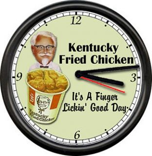 Colonel Sanders KFC Kentucky Fried Chicken Restaurant Diner Sign Wall