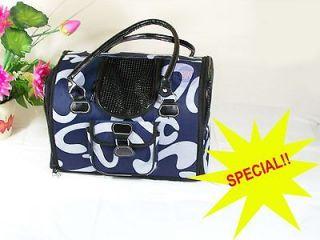 Pretty 15BLUE Pet Dog Cat Carrier Tote/ Travel Bag Purse Handbag
