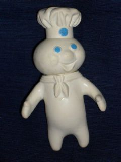 Vintage 1971 PILLSBURY DOUGH BOY swivel head Rubbery Plastic Doll