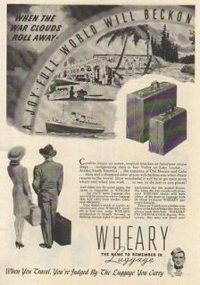 1944 Wheary Luggage Racine Wisconsin WI   When the War Clouds Roll