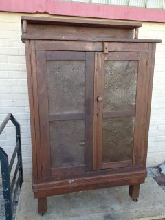 nice antique pie safe with shelf on top time left
