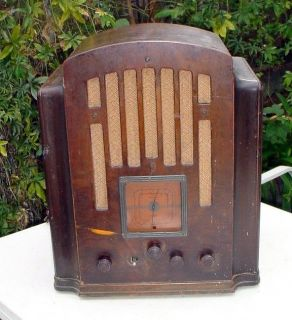 Antique Tube Radio   General Electric M 61, 1930s, big one, Tombstone
