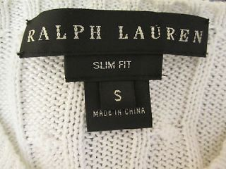 ralph lauren black label $ 629 s white cable knit cardigan sweater top