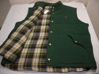 Polo Ralph Lauren Tartan Lined Fleece Vest $225NWT ski p plaid hunt